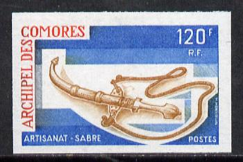 Comoro Islands 1975 Handicrafts (2nd Series) 120f Sabre imperf from limited printing, unmounted mint as SG 166*