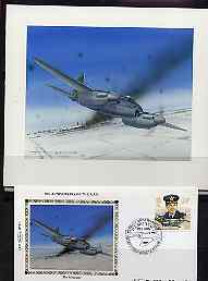 Great Britain 1986 History of the Royal Air Force - original hand-painted artwork  by Gordon G Davies showing the Mosquito Bomber, as used to illustrate Benham silk limit...