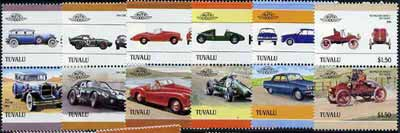 Tuvalu 1986 Cars #4 (Leaders of the World) set of 12 unmounted mint, SG 421-32