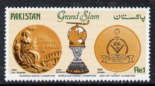 Pakistan 1985 Hockey Team 'Grand Slam' unmounted mint, SG 676*