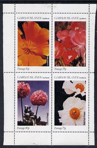 Gairsay 1979 Poppies perf  set of 4 values (10p to 75p) unmounted mint