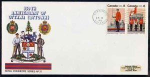 Canada 1976 150th Anniversary of Ottawa illustrated commem cover with Royal Military College se-tenant pair with special CFPO cancel