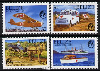 Belize 1988 125th Anniversary of Red Cross perf set of 4 unmounted mint SG 1045-8