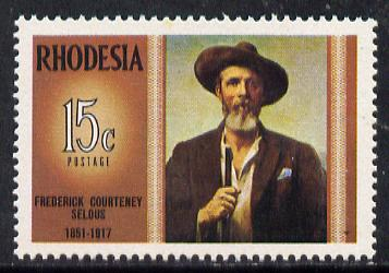 Rhodesia 1971 Famous Rhodesians (5th Series) Frederick Selous (Hunter, Explorer & Pioneer) unmounted mint, SG 458*