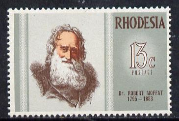 Rhodesia 1972 Famous Rhodesians (6th Series) Dr Robert Moffat (Missionary) unmounted mint SG 469*