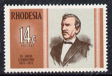 Rhodesia 1973 Famous Rhodesians (7th Series) Dr David Livingstone unmounted mint, SG 480*