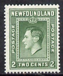 Newfoundland 1938 KG6 2c (comb perf 13.5) unmounted mint SG 268*