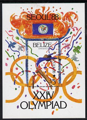 Belize 1988 Seoul Olympic Games perf s/sheet unmounted mint SG MS 1044