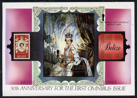 Belize 1985 50th Anniversary or First Omnibus Issue perf m/sheet unmounted mint, SG MS 845