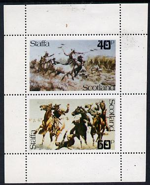 Staffa 1979 Battles (Wild West) perf  set of 2 values unmounted mint (40p & 60p)