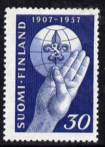 Finland 1957 50th Anniversary of Scout Movement unmounted mint, SG 572*