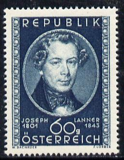 Austria 1951 Birth Anniversary of Joseph Lanner (Composer) unmounted mint Mi 964, SG 1229
