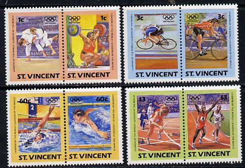 St Vincent 1984 Olympics (Leaders of the World) set of 8 unmounted mint SG 812-19