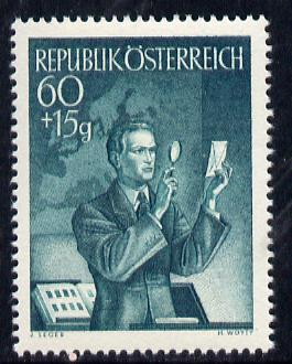 Austria 1950 Stamp Day unmounted mint, Mi 957, SG 1222