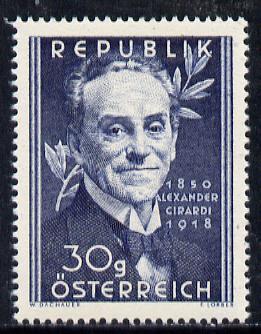 Austria 1950 Birth Centenary of Alexander Girardi (Actor) unmounted mint Mi 958, SG 1223