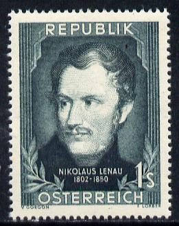 Austria 1952 Birth Anniversary of Nikolaus Lenau (Writer) Mi 975, SG 1239