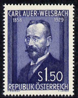 Austria 1954 25th Death Anniversary of Dr Auer von Welsbach (Inventor) unmounted mint Mi 1006