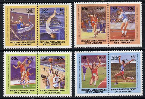 St Vincent - Bequia 1984 Olympics (Leaders of the World) set of 8 unmounted mint