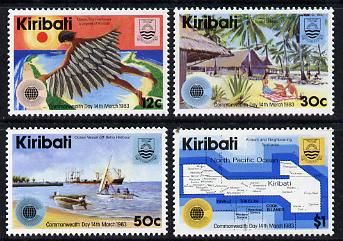 Kiribati 1983 Commonwealth Day set of 4 unmounted mint, SG 197-200, (gutter pairs available - price x 2)