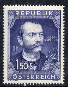 Austria 1952 Birth Centenary of Josef Schrammel (Composer) unmounted mint Mi 970, SG 1235