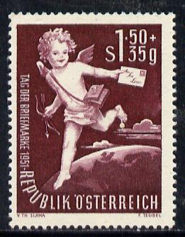 Austria 1952 Stamp Day (Cupid), Mi 972