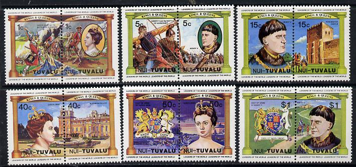 Tuvalu - Nui 1984 Monarchs (Leaders of the World) Queen Anne & Henry V, set of 12 unmounted mint