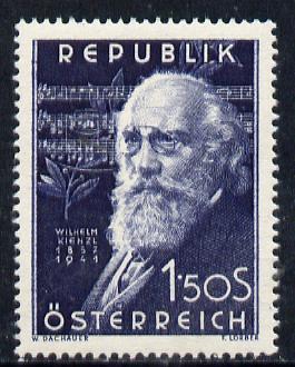 Austria 1951 10th Death Anniversary of Wilhelm Kienzl (Composer) unmounted mint Mi 967, SG 1232