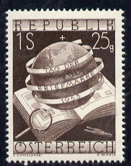 Austria 1953 Stamp Day (Globe), Mi 995, SG 1252