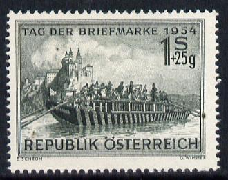 Austria 1954 Stamp Day (River Boat) unmounted mint Mi 1010