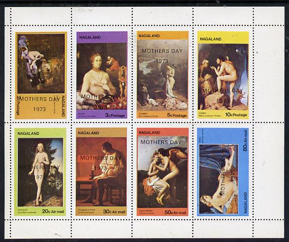 Nagaland 1973 Paintings of Nudes (opt'd Mothers Day 1973) perf  set of 8 values (2c to 80c) unmounted mint