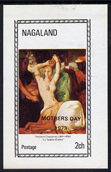 Nagaland 1973 Paintings of Nudes (opt'd Mothers Day 1973)  imperf souvenir sheet (2ch value) unmounted mint