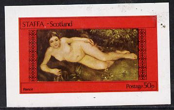Staffa 1974 Paintings of Nudes imperf souvenir sheet (50p value)  unmounted mint, stamps on arts      nudes