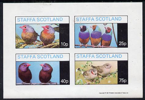 Staffa 1981 Love Birds imperf  set of 4 values (10p to 75p) unmounted mint
