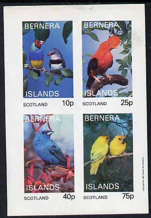 Bernera 1981 Exotic Birds imperf  set of 4 values (10p to 75p) unmounted mint