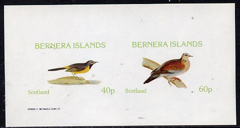 Bernera 1982 Birds #08 (Wagtail & Dove) imperf  set of 2 values (40p & 60p) unmounted mint