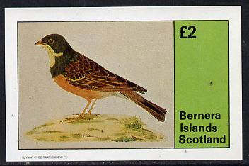 Bernera 1982 Birds #08 (Yellowthroat) imperf deluxe sheet (�2 value) unmounted mint