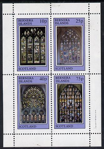 Bernera 1981 Stained Glass Church Windows perf  set of 4 values (10p to 75p) unmounted mint