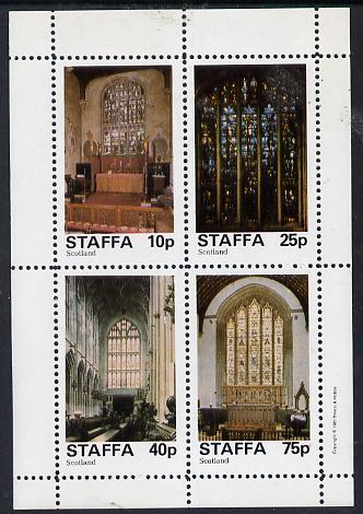 Staffa 1981 Stained Glass Church Windows perf  set of 4 values (10p to 75p) unmounted mint