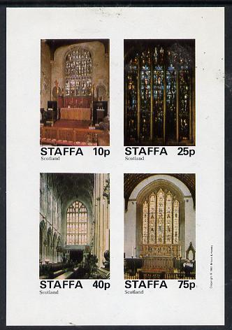 Staffa 1981 Stained Glass Church Windows imperf  set of 4 values (10p to 75p) unmounted mint