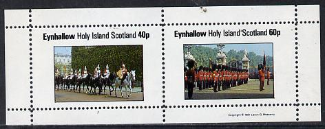 Eynhallow 1981 Uniforms (Horseguards & Grenadiers) perf  set of 2 values (40p & 60p) unmounted mint