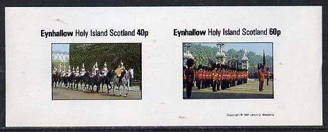 Eynhallow 1981 Uniforms (Horseguards & Grenadiers) imperf  set of 2 values (40p & 60p) unmounted mint