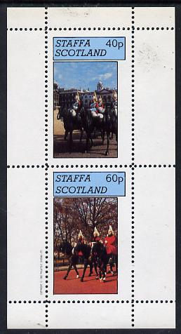 Staffa 1982 Horseguards perf  set of 2 values (40p & 60p) unmounted mint