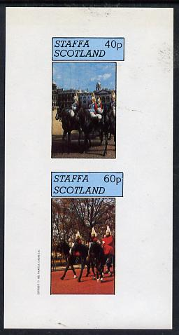 Staffa 1982 Horseguards imperf  set of 2 values (40p & 60p) unmounted mint