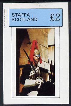 Staffa 1982 Horseguards imperf deluxe sheet (�2 value) unmounted mint