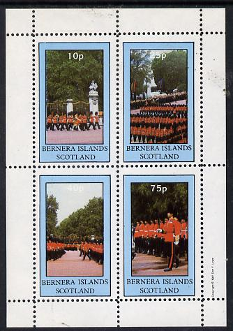 Bernera 1981 Uniforms (Guardsmen) perf  set of 4 values (10p to 75p) unmounted mint