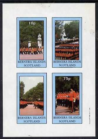 Bernera 1981 Uniforms (Guardsmen) imperf  set of 4 values (10p to 75p) unmounted mint