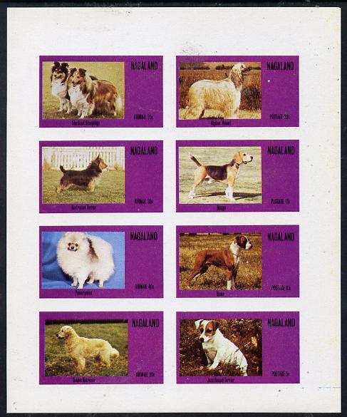 Nagaland 1973 Dogs imperf  set of 8 values (5c to 50c) unmounted mint