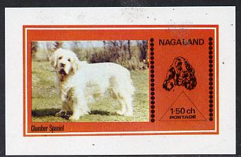 Nagaland 1973 Clumber Spaniel imperf souvenir sheet (1.5ch value) unmounted mint