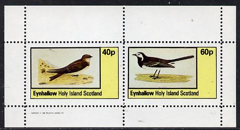 Eynhallow 1982 Birds #05 (Martin & Wagtail) perf  set of 2 values (40p & 60p) unmounted mint