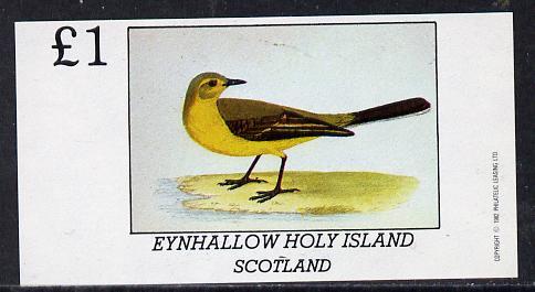 Eynhallow 1982 Yellow Wagtail imperf souvenir sheet (�1 value) unmounted mint